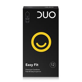 Easy Fit - Condoms for  Fast & Easy to put on  DUO Condoms