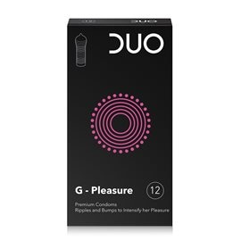 G-pleasure - Condoms with Ripples & bumps to intensify her pleasure DUO Condoms