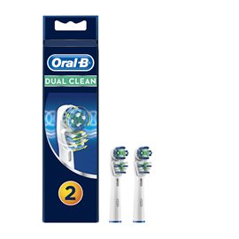 Dual Clean Replacement Electric Toothbrush Heads ORAL-B Electrical Toothbrushes