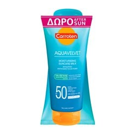 Moisturising  Suncare Milk SPF50 & After Sun Aquavelvet GIFT CARROTEN Body