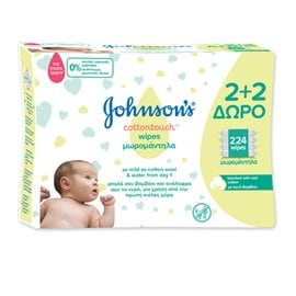 Johnson's Baby CottonTouch Wipes 2+2 FREE JOHNSON'S BABY BABY WIPES