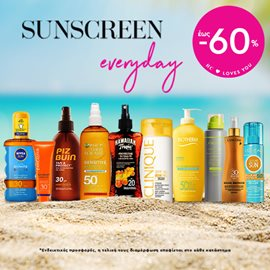 Enjoy the Sun with Luxury Sunscreens up to 60%
