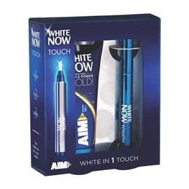 Pen White Now + Toothpaste Gold AIM Whitening Systems