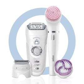 Silk-Epil 7-8958BS Epilator Sensosmart Wet & Dry & Facespa BRAUN Electrical Hair Removals