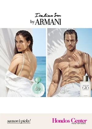 Welcome the Italian Sun By ARMANI @ HONDOS CENTER