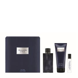 Abercrombie & Fitch First Instinct Blue Set Eau de Toilette & Shower Gel & Travel Size Eau de Toilette for Men ABERCROMBIE Perfume Sets
