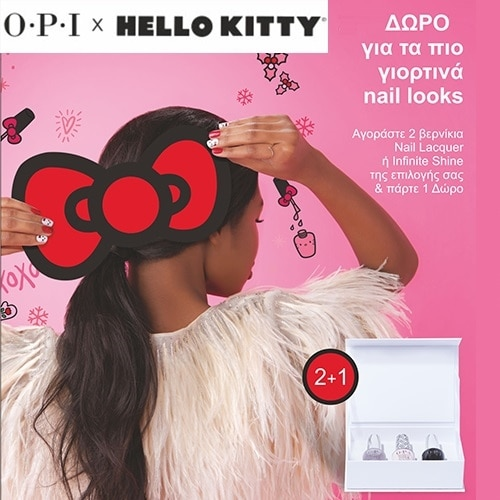 O.P.I.- Hello Kitty FREE GIFT for the most festive nail looks!