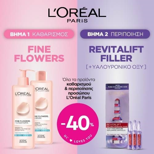 L'Oreal Paris skincare and cleansers - 40%