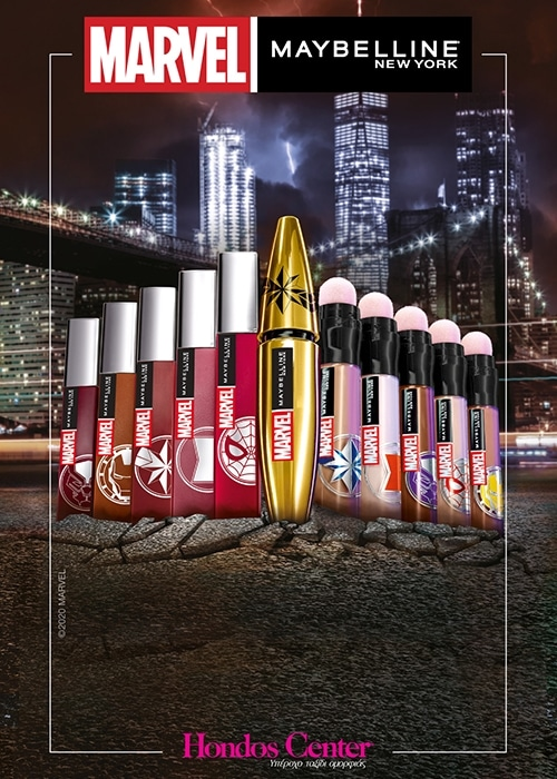 MARVEL X MAYBELLINE! SWIPE ON YOUR SUPERPOWER
