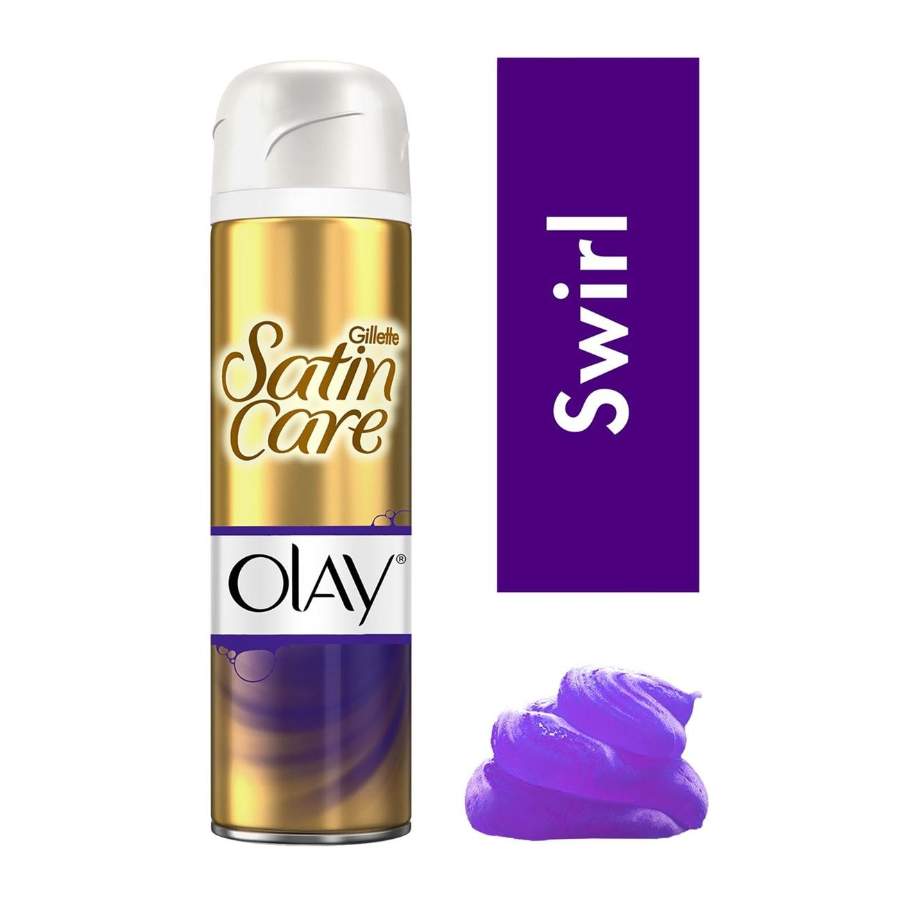 Satin Care Gel Ξυρίσματος Violet Swirl With A Touch Οf Olay