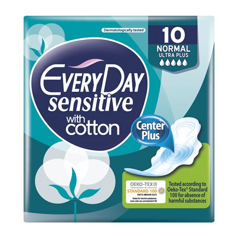 Everyday Sensitive Cotton Ultra Plus Normal