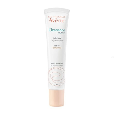 Avène Cleanance Women Day Emulsion with Color SPF30 for Adult Acne Skin